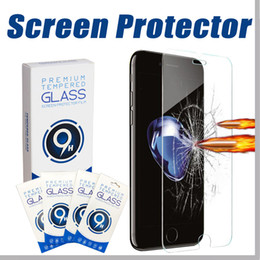 Wholesale Iphone Front Glass Screen - For iPhone 6 6s 7 8 Plus Tempered Glass 2.5D HD 9H 0.33mm Anti-Scratch for Samsung Galaxy S6 S7 Edge Note 8 Screen Protector curved Film