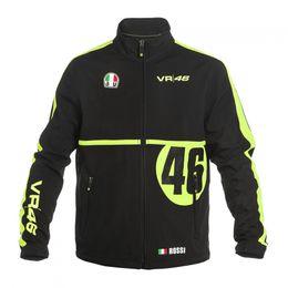 Wholesale Men Black Nylon Windbreaker Jacket - 2017 Free Shipping New High qulity Clothing Luna Rossi VR46 Windbreaker Team Sweatshirts MotoGP Jackets Motorcycle Sweatshirts Men's Clot