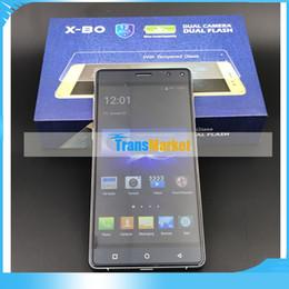 Wholesale Thinnest Touch Screen Phone - X-B0 Ultra-Thin Smart Phone 5.5Ich Quad Core MTK6580A Dual Camera 5MP Singal SIm Card 1GB RAM 8GB Rom Smart Phone Free tnt post