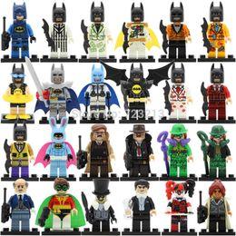 Wholesale Dc Toys - 8pcs Super Hero DC Batman Riddler Robin Swim Ring Barbara Gordon Harley Quinn Minifigures set building blocks set model toys for children