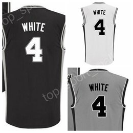 Wholesale Team Jerseys For Cheap - Derrick White 4 Printed Basketball Jerseys Cheap Derrick White Jersey For Sport Fans Team Black Alternate Gray Breathable Free Shipping