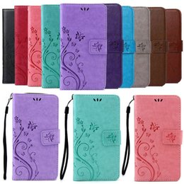 Wholesale Silicone Pouch Purse - Retro Flower Butterfly Wallet Leather For Samsung Galaxy Grand Prime G530 A3100 A5(2016) A510 A5100 Flip Cover Stand Purse Case Skin Pouch