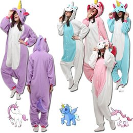 Wholesale Unicorn Adult Onesie - My Little Pony UNICORN KIGURUMI Pajamas Unisex Children Adult Animal Cosplay Costume Onesie Sleepwear S, M L, XL