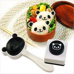 Wholesale Panda Sushi Maker - New Rice Ball Mold Lovely Panda Shaped Sushi Maker Mould Kit with Nori Punch