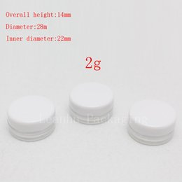 Wholesale Small Tin Cans - 2g small empty cosmetic tin cans sample plastic cream jars cosmetic packaging ,tin containers makeup display tin Mini bottle
