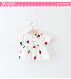 Wholesale Sleeveless Shirt Dress Korean - 2017 summer new children's clothing girls Korean version of the embroidery doll shirt dress foreign trade children's clothing