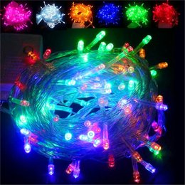 Wholesale Purple Ball Lamp - 10M 100 LED fancy ball Lights Decorative Christmas Party Festival Twinkle String Lamp garland 9 Colors Free Shipping