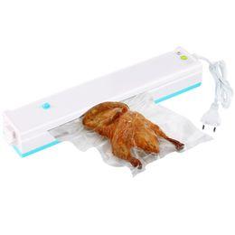 Wholesale Vacuum Food Savers - Vacuum Sealer Packer Home Food Saver Plastic Vacuum Packaging Machine Including 15pcs Bags