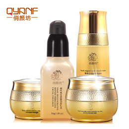 Wholesale Reduce Cream - QYANF The Golden Snail Whitening Cream Face Skin Care Treatment Reduce Scars Acne Pimples Lift Firming Moisturizing Anti Wrinkle Face Cream