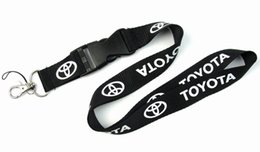 Wholesale Car Key Cell Phones - FREE SHIPPING Hot10pcs lot Car Logo Lanyard for MP3 4 cell phone key chain lanyards wholesale L004