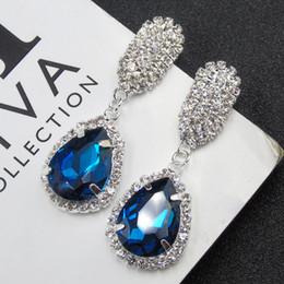 Wholesale Diamond Stud Drop - White Gold swiss 5A diamond fashion water drop earrings allergy free super quality earring studs