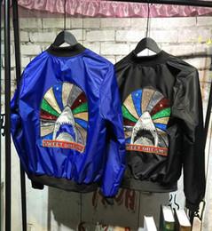 Wholesale Stand For Jackets - Ma1 Bomber Jacket Women 2017 New sweet dreams Rainbow shark Jacket KANYE WEST for Pilot Flight Jacket Bombers thin Baseball Coats Military