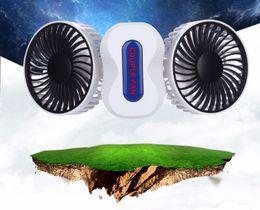 Wholesale Gear Head Motor - 2 Motors Summer Couples Air Conditioner Fan Rechargeable Li Battery Air Conditioning Ventilador Fans Portable Mini USB Fan