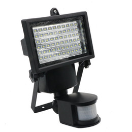 Wholesale Motion Detector Security Light - Edison2011 Solar Light 60 LEDs PIR Motion Detector Door Solar Lamps Waterproof Outdoor Wall Security Spot Lighting