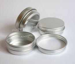 Wholesale Cosmetic Jars Gram - 50 x 30g aluminum jar, 30 gram metal cream jar, 1 oz silver aluminum tin, 30 g metal cosmetic container