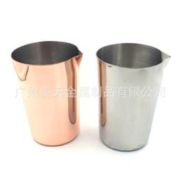 2019 bicchieri di vino in rame Creativo Moscow Mule Copper Cup Tazze di acqua in acciaio inox Argento Rose Gold Pull Flower Latte Tazza di caffè Stemless Tumbler Bicchieri da vino 25mt A bicchieri di vino in rame economici