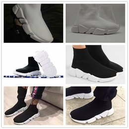 Wholesale Speed Shoes For Men - 2017 Top Quality Speed sock Speed Trainer running shoes for men and women sports shoes Speed stretch-knit Mid sneakers size 36-45