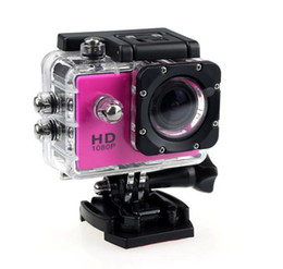 Wholesale Pink Screen Images - 25PCS new 1080P Full HD Action Digital Sport Camera 2 Inch Screen Under Waterproof 30M DV Recording Mini Sking Bicycle Photo Video Cam