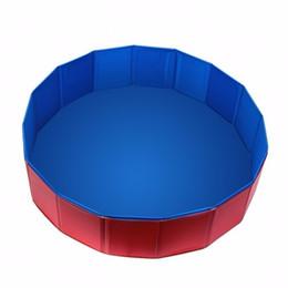 Wholesale Product Pool - Portable folding PVC Pet Large Swimming Pool Bathing Tub Bathtub Dog Cats Washer pools 31 by 8-Inch