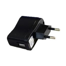 Wholesale E Cig Eu - USB AC Power Charger EU US plug Black Instock Wall Adapter 110V -240V for Mp3 Mp4 Cellpong EGO E-cig
