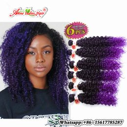 Wholesale Curly Weave For Braiding - 6pcs per pack Bug purple 613 30 kinky curly ombre braiding hair brazilian hair weave bundles for black women brazilian hair usa
