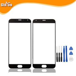 iphone vidrio frontal dorado Rebajas Al por mayor-Para MeiZu MX5 Original Touch Touch lente del panel de cristal digitalizador para MeiZu MX5 blanco azul accesorios del teléfono del oro envío gratis