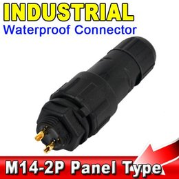Wholesale Panel Mount Socket - IP68 2Pin Waterproof Connector Cable Adapter 2 Pin Panel Mount Industrial Electrical Wire Connector Socket