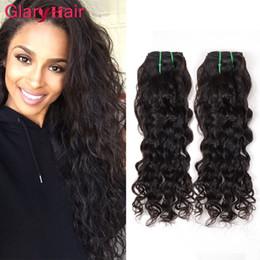 2019 наращивание волос 2017 Новые стильные водные волнистые линии Бразильские малайзийские кудрявые связки волос Естественная волна Большие вьющиеся человеческие наращивания волос 100 г Bundle дешево наращивание волос