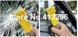 Wholesale Multi Use Hammer - 200PCS 4 in 1 Multi functional Auto Car Emergency Hammer with LED Flashlight for Auto-use,safety hammer 0001
