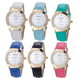 Wholesale Clock Geneva - Fashion Geneva Quartz Watch Women Wrist Watches Ladies Wristwatch Female Clock Quartz-watch Relogio Feminino Montre Femme