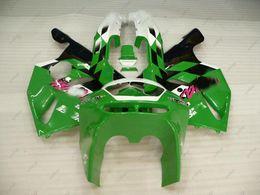 Wholesale 1997 Zx6r Fairing Kits - ABS Fairing Zx6r 96 97 Body Kits Ninja Zx-6r 1996 White Green Black Bodywork 636 Zx-6r 1995 1994 - 1997