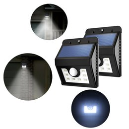 Wholesale Solar Led Deck - Super Bright Solar Lights 8 LED Wireless Waterproof Motion Sensor Outdoor Light for Patio Deck Yard Garden with Motion Activated Auto On Off