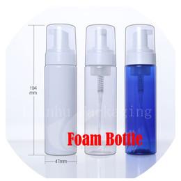 Wholesale Glass Bottles For Liquid Cosmetics - 200ml empty DIY washing Foam pump cosmetics bottle, 200cc bubble liquid soap empty plastic container for cleaning pump bottle