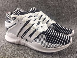 Wholesale Fabric Equipment - EQT Support ADV Zebra White Black running shoes mens Womens Equipment EQT Support ADV Boost Sock Sneakers size 36-44