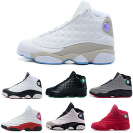 Wholesale Color Thread For Leather - [With Box]Free shipping Wholesale 2016 Cheap Hot New Color Air Retro 13 Bred Sports Shoes Running Shoes Mens Basketball Shoes For Sale 8-13