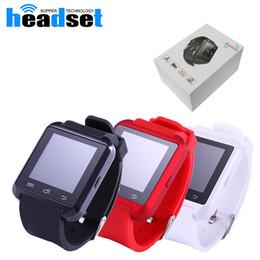 Wholesale Android Smartphone 4s - Bluetooth Smartwatch U8 U Watch Smart Watch Wrist Watches for iPhone 4 4S 5 5S Samsung s7 HTC Android Phone Smartphone