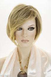 Wholesale Wig Golden - Golden Blonde Blend Shaded Brown Short Lace Front Jon Renau Wigs Synthetic Hair Wigs