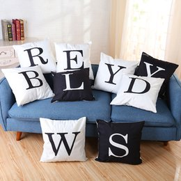 """Wholesale White Knitted Throw - 2017 new Fashion light pillow 26 letters Throw Pillow Case Cushion Cover Home Decors 18"""" x 18"""""""