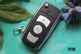 Wholesale Flip Key Kia - CYCTEM 3+1 Buttons Car Modified Flip Folding Remote Key Shell Fob Case Blank Cover Fit For Kia Cerato