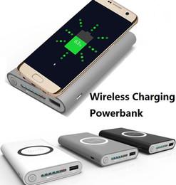 Wholesale Emergency Powerbank - 10000mAh Qi wireless Power Bank Emergency Battery wireless charging power banks Portable powerbank For iphone 8 Samsung Galaxy S7 not7