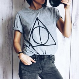 Wholesale Magic Triangles - Hart Porter magic Triangle fashion t-shirts for women tops plus size t shirt casual short sleeve crop top tshirt WT37 WR