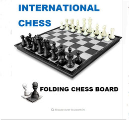 Wholesale Magnetic Game Set - 3 Size Funny Folding Folable HIPS Plastic Magnetic International Chess Set Board Game Funny Game Sports Entertainment
