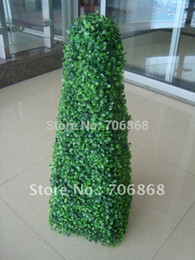 Wholesale Christmas Wholesale Wreath Supplies - estive Party Supplies Decorative Flowers Wreaths UV PROTECTED Free shipping 2X Artificial PYRAMID boxwood topiary tree plant 38inch boxwo...