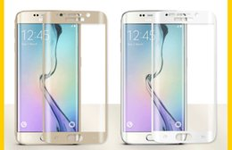 Wholesale Silk Mirrors - Full Curved Silk Printing Full Arc CoverTempered Glass For Galaxy S7, S7 Edge, S6edge,S6 Edge Plus With Retail Box