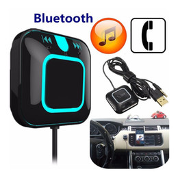 Wholesale Laptop Microphone Audio Adapter - LED Wireless NFC Bluetooth 4.0 Receiver Handsfree Car Kit Audio Adapter Built in Microphone for Laptop Tablet PC