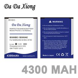 Wholesale I9192 S4 Mini - Da Da Xiong 4300mAh B500BE B500AE Battery for samsung galaxy mini s4 i9190 I9198 I9192 i9195 s4mini