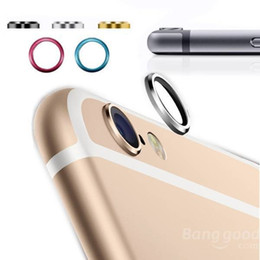 Wholesale Metal Case For Camera - Jewelry Rear Camera Glass Metal Lens Protector Hoop Ring Guard Circle Case Cover For iphone 6 4.7 & plus 5.5 Inch Retail Package
