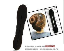 Wholesale Large Hair Sponges - 2017 new!30set lot small+large black Hair Bun Maker Sponge Bun Clip Hair Styling Tool Hair Accessories