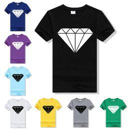 Wholesale Loose Tee Tshirt - Wholesale-Loose Tshirt Homme 2016 Brand Diamond Printed T-Shirt Cotton Casual Funny T Shirt Women Short Sleeve Cool Black Tees F4203-63