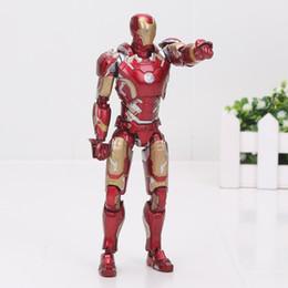 Wholesale 42 Dolls - 16cm Super Heros the Avengers Iron man SHF S.H.FIGUARTS Iron Man Mark 42 PVC Action Figure Model Toys Doll